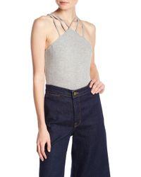 Lush | Knit Strappy Bodysuit | Lyst