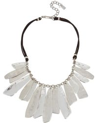 Robert Lee Morris - Shaky Layered Bib Leather Necklace - Lyst