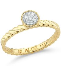 Alor - 18k Yellow Gold Diamond Ring - Size 7- 0.05 Ctw - Lyst