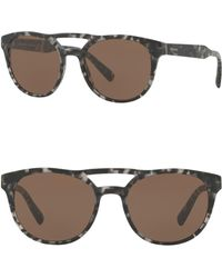7181f26bf47 Prada Round Catwalk 57mm Sunglasses for Men - Lyst