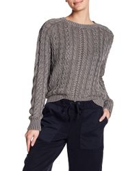 Marrakech - Sarah Washed Cable Knit Sweater - Lyst