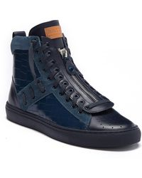 86a19f7a2080 Bally - Hekem Crocodile Embossed Leather High-top Sneaker - Lyst