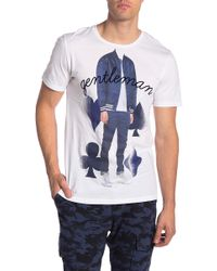 Antony Morato - T-shirt In White With Gentleman Print - Lyst