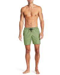 Jared Lang - Checkered Swim Trunks - Lyst