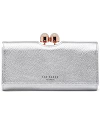 Ted Baker - Pamelia Leather Bobble Matinee Wallet - Lyst
