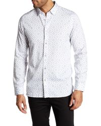 Ted Baker - Geo Print Long Sleeve Trim Fit Shirt - Lyst