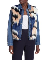 English Factory - Denim Jacket With Faux Fur - Lyst