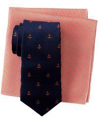 Tommy Hilfiger - Anchor Silk Tie & Stripe Pocket Square Box Set - Lyst