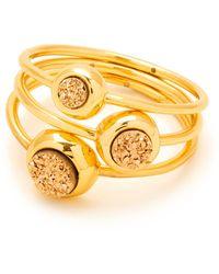 Gorjana - Astoria Drusy Ring - Set Of 3 - Size 6 - Lyst