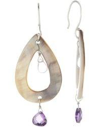 Peyote Bird - Abalone Teardrop Dangle Earrings - Lyst