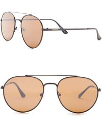 William Rast - Men's 56mm Modified Round Sunglasses - Lyst