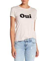 Siwy - Oui In Vintage Pink T Shirt - Lyst