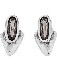 Uno De 50 - Arrow Me Swarovski Crystal Accented Arrow Stud Earrings - Lyst