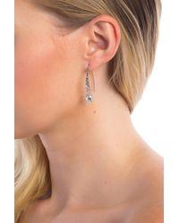 Judith Jack - Sterling Silver Swarovski Maracastie Threader Earrings - Lyst