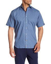 Thomas Dean - Stitch Dot Regular Fit Shirt - Lyst