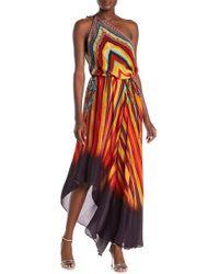b017938b05 City Chic Plus Size Floral-print Convertible Maxi Dress in Orange - Lyst