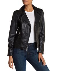 MICHAEL Michael Kors - Asymmetric Zip Moto Leather Jacket - Lyst
