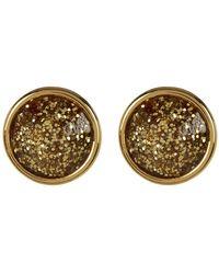 Kate Spade - Gumdrop Glitter Accent Round Stud Earrings - Lyst