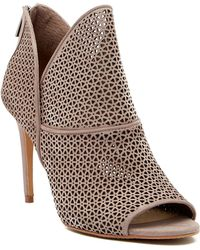 Vince Camuto - Vatena Perforated Leather Open Toe Bootie - Lyst