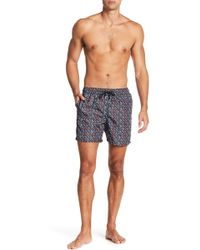 Jared Lang - Mustache Print Swim Trunks - Lyst