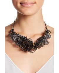Jenny Packham - Two-tone Cutout Multi Wing Statement Necklace - Lyst