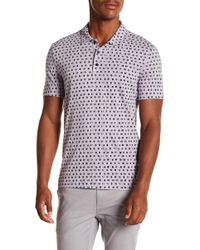 Perry Ellis - Dotted Cotton Polo Shirt - Lyst