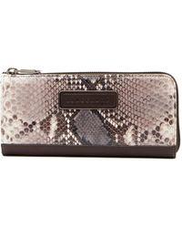 Longchamp - Legend Snake Embossed Leather Zip Wallet - Lyst
