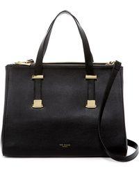 Ted Baker - Alunaa Adjustable Handle Leather Tote Bag - Lyst