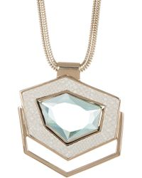 Cole Haan - Geometric Crystal Snake Chain Pendant Necklace - Lyst