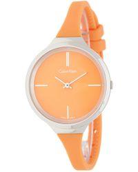 Calvin Klein - Women's Lively Silicone Strap Watch, 34mm - Lyst