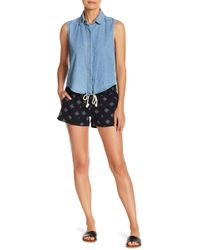 Roxy - Oceanside Linen Blend Printed Shorts - Lyst