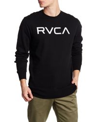 RVCA - Logo Crew Neck Sweatshirt - Lyst