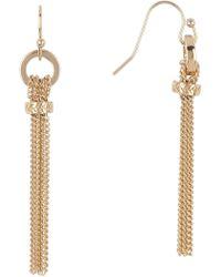 Cole Haan - Gold-tone Tassel Chain Earrings - Lyst