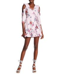 Romeo and Juliet Couture - Floral Cold Shoulder Dress - Lyst