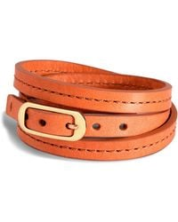 Shinola - 8mm Triple Wrap Leather Watch Band - Lyst