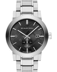 Burberry | Men's Check Stamped Bracelet Watch, 42mm | Lyst