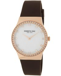 Kenneth Cole - Women's Classic Mother Of Pearl Silicone Strap Watch, 34 X 40.5mm - Lyst