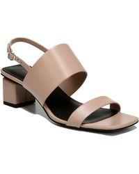 Via Spiga - Forte Leather Block Heel Sandal - Lyst