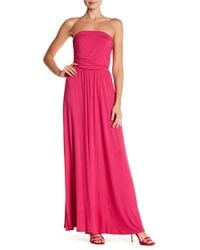91154fe5fae West Kei Strapless Maxi Dress in Red - Lyst