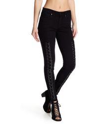 True Religion | Jennie Lace-up Skinny Jeans | Lyst