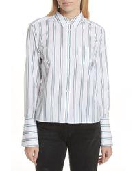 Equipment - Huntley Stripe Cotton Shirt - Lyst