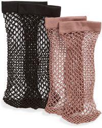 Nordstrom - 2-pack Fishnet Ankle Socks - Lyst