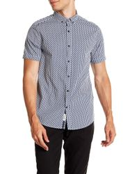 Report Collection - Seahorse Print Short Sleeve Slim Fit Shirt - Lyst