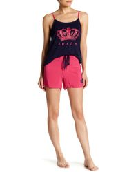 Juicy Couture - Pajama Tank Top & Shorts Set - Lyst
