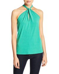 Go Couture - Twisted Halter Tank - Lyst