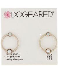 Dogeared - Sterling Silver Playing It By Ear Open Earrings - Lyst