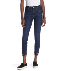 Mother - High Waisted Looker Dagger Ankle Fray Jeans - Lyst