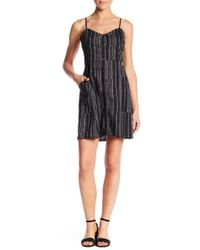 Lush - Linen Blend Stripe Button Down Dress - Lyst