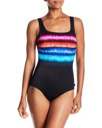 Reebok - Lite It On Fire One-piece Swimsuit - Lyst
