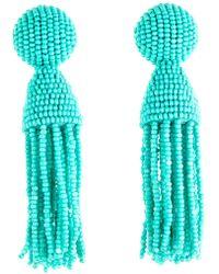 Oscar de la Renta - 'classic Short' Tassel Drop Clip Earrings - Lyst